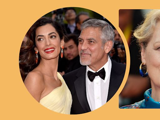 Amal Clooney jokes that her husband George was 'married' to Meryl Streep