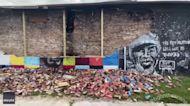 George Floyd Mural Collapses in Toledo