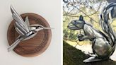 Artist Turns Discarded Silverware and Scrap Metal Into Striking Animal Sculptures