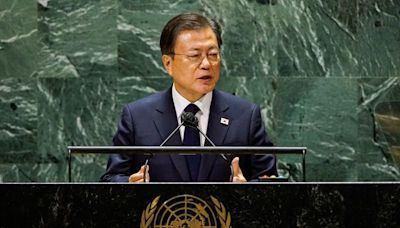 South Korean leader repeats call for declaration to end Korean War