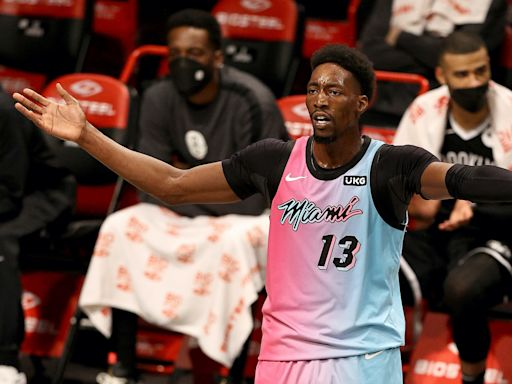 No hugs allowed: Security stops Kyrie Irving and Bam Adebayo from exchanging jerseys