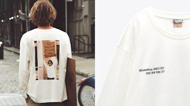 Ig爆紅紐約「舉牌男」回歸!攜手Zara推出再生棉印花白T,厭世語錄穿著走