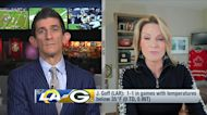 Stacey Dales highlights Jared Goff's struggles in cold weather games