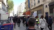 Demonstrators March Through Paris in Health Pass Protest