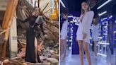 Clueless Miss Turkey model poses on rubble of homes destroyed by earthquake
