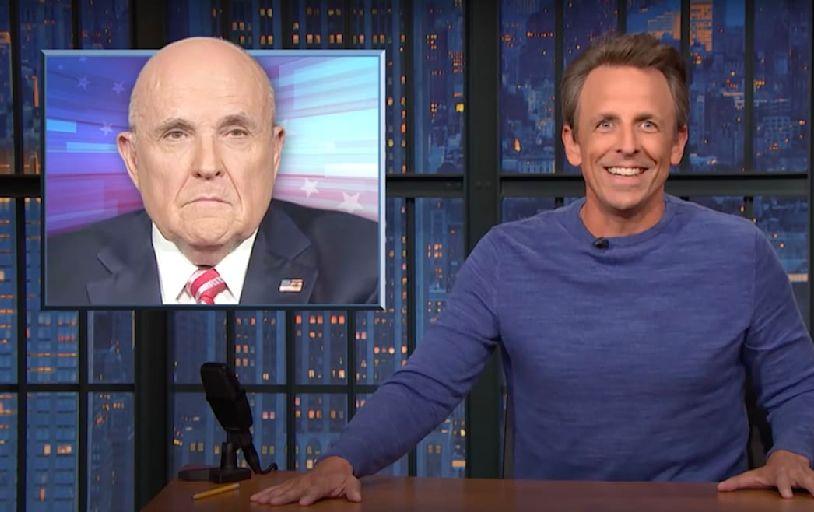 Seth Meyers Brutally Mocks Rudy Giuliani Over Fox News Ban