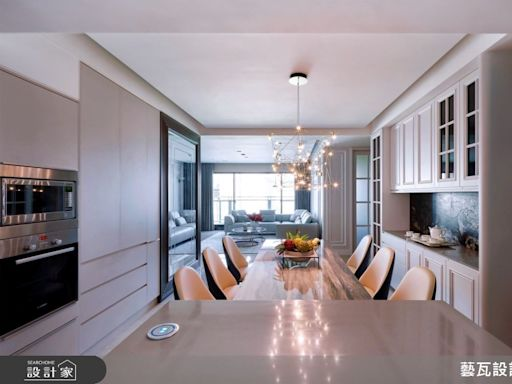 自住待客都體面!新古典大宅用豪氣沙發與精緻餐廳款待家人親友