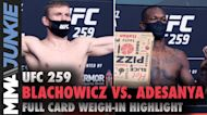 Highlight of the UFC 259 official weigh-ins