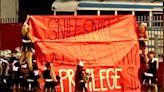 'Just shocked': Butler HS cheerleaders display 'privilege' banner at football game