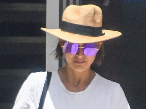 Natalie Portman Livens Up Her Shorts & T-Shirt With Rainbow Adidas Down Under
