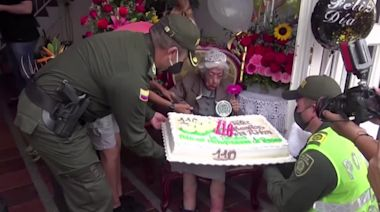 Colombia police throw a 110th birthday party