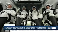SpaceX crew back from space