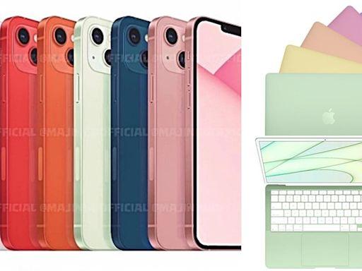 iPhone 13將有「7彩配色」!瀏海縮小、鏡頭不一樣,還有「彩虹筆電」出現了
