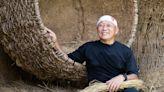 藝術家林舜龍攜手稻草編織耆老 豆莢幽浮降落宜蘭傳藝