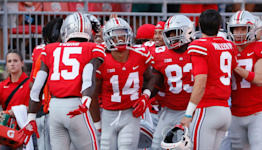 WATCH: Ohio State DB Ronnie Hickman gets pick six against Akron
