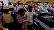 Uganda's opposition frontrunner Bobi Wine votes