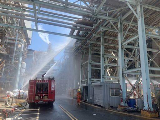 中油大林煉油廠驚傳氫氣外洩 消防局大批人車出水警戒