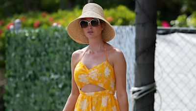 Ivanka Trump Is Summer-Ready in Tropical Cut-Out Dress and White Sneakers