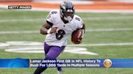 Lamar Jackson Is First QB In NFL History To Rush For 1,000 Yards In Multiple Seasons