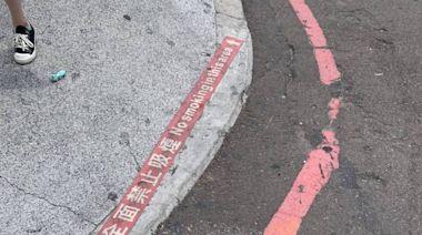 台中綠川特殊設計人孔蓋被劃紅線 市民嘆︰說好的城市美學呢?