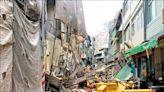 高雄》舊今日戲院拆外牆倒塌 波及3民宅