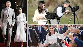 Queen Letizia of Spain swaps outfits to visit a national park