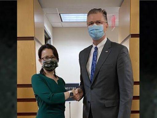 台灣駐美代表蕭美琴•赴美國務院會新任亞太助卿 康達:美對台承諾「堅若磐石」