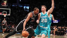 Kevin Durant's 38 points not enough as Nets fall to Hornets 111-95