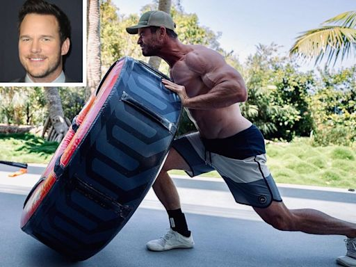 Chris Pratt Jokingly Tells Chris Hemsworth to 'Stop Working Out': 'Gonna Need You to Put on 25 Lbs.'