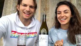 Cheers! Ashton Kutcher and Mila Kunis Launch Quarantine Wine For a Good Cause