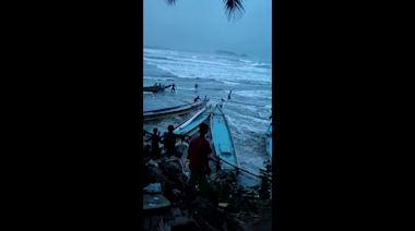 Fishermen injured trying to save their boats as Cyclone Amphan strikes India's east coast