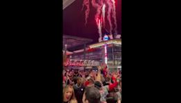 Fireworks Lit as Fans Celebrate Atlanta Braves Advancement to World Series