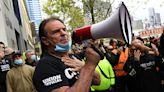 維州建築工人再抗議 反對強制接種衛生令