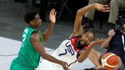 奈及利亞男籃熱身賽爆冷宰美國 盼東奧奪得獎牌