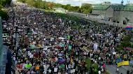 Timelapse of Montreal Climate March Shows Stream of Protesters