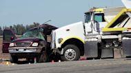 Truck slams SUV near U.S.-Mexico border, at least 13 dead