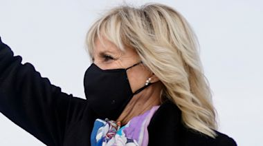 Jill Biden Proves the Power of a Statement Accessory As She Arrives in Delaware in Knee-High Boots