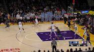 LeBron James with a block vs the Memphis Grizzlies
