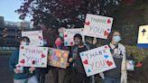 Oregon activists cheer frontline health care workers