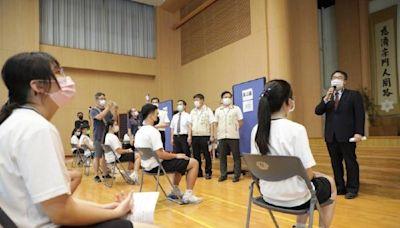 關懷BNT疫苗學生接種 黃偉哲慈濟高中視察