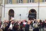 Rome Demonstrators Rally for 'Elimination of Violence Against Women'