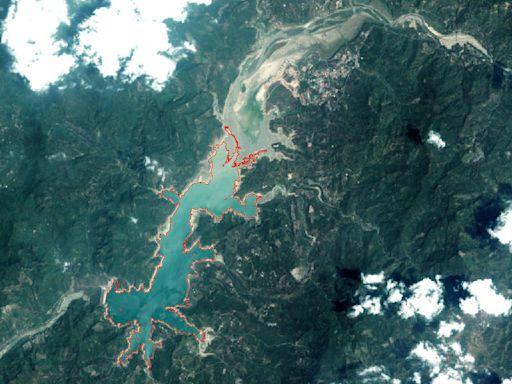 中央大學3D衛星遙測蓄水量 曾文水庫水位嚴重下降