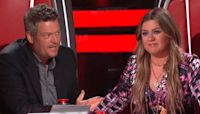 Kelly Clarkson's incredibly tough 'Voice' decision has Blake Shelton telling her to 'quit'