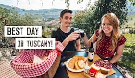 Perfect Day in Tuscany! - BEAUTIFUL Picnic Spot, Underground Winery, Castles & MORE! (Italy)