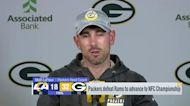 Matt LaFleur reacts to Packers' win over Rams