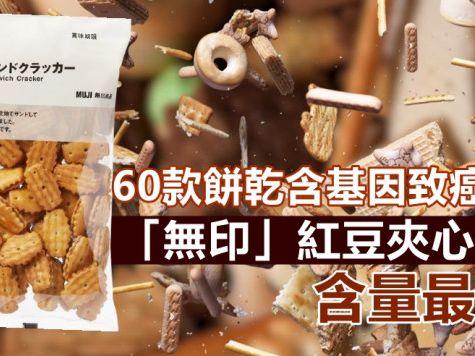 消委會|60款餅乾含基因致癌物 「無印」紅豆夾心餅含量最高