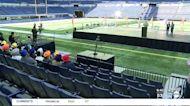 Memorial held at Lucas Oil Stadium for FedEx shooting victims