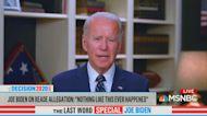 Joe Biden says people who believe Tara Reade shouldn't vote for him