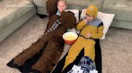 Transform into a 'Star Wars' character with these crochet blankets