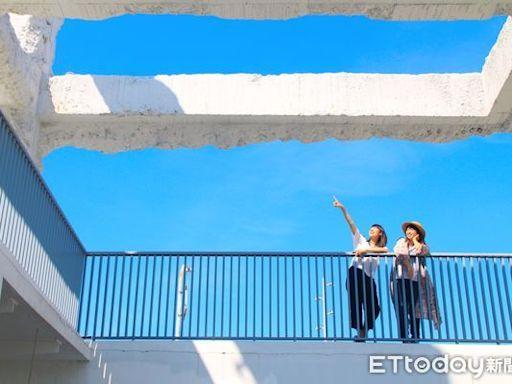 台南免費景點「河樂廣場」 療癒藍白風格天台成《俗女2》取景地